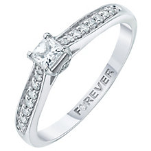 Palladium 1/4 carat Forever Diamond Ring - Product number 6213340