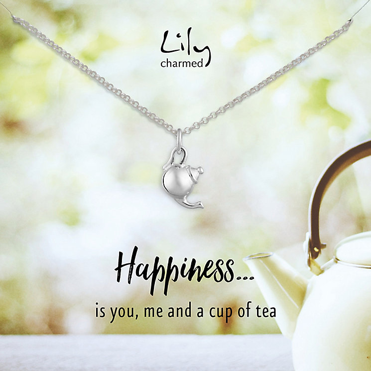Lily Charmed Silver Teapot Pendant - Product number 6214207
