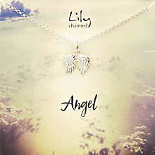 Lily Charmed Silver Angel Wings Pendant - Product number 6214266