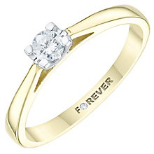 18ct Yellow Gold 1/5 Carat Forever Diamond Solitaire Ring - Product number 6214932