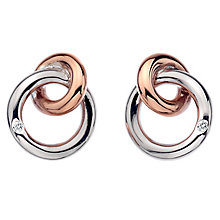 Hot Diamonds Eternity Silver & Rose Gold-Plated Stud Earring - Product number 6215769