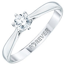 18ct White Gold 1/3ct Forever Diamond Ring - Product number 6218997