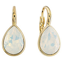 Guess Gold Plated Swarovski Crystal Drop Earrings - Product number 6220045