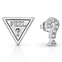 Guess Rhodium-Plated 'Feel' Earrings - Product number 6220053