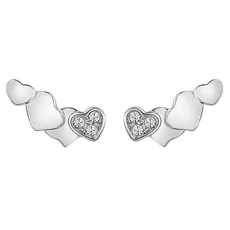 Guess Rhodium Plated Four heart Earrings - Product number 6220169