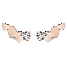Guess Rose Gold Plated Four heart Earrings - Product number 6220177