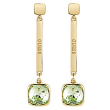 Guess Gold-Plated Swarvoski Crystal Coloured Drop Earrings - Product number 6220185