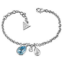 Guess Rhodium Plated Swarovski Crystal Multi Drop Bracelet - Product number 6220282