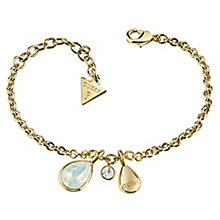 Guess Gold Plated Swarovski Crystal Multi Drop Bracelet - Product number 6220290