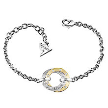 Guess Rhodium & Yellow Gold Plated E Motions Bracelet - Product number 6220355