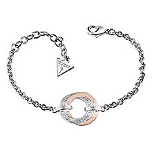 Guess Rhodium & Rose Gold Plated E Motions Bracelet - Product number 6220363