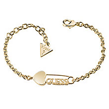 Guess Yellow Gold Plated Heart and Pin Bracelet - Product number 6220371