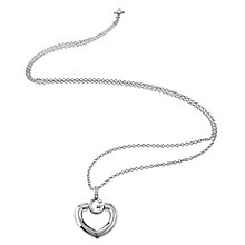 Guess Rhodium Plated G Heart Necklace - Product number 6220444