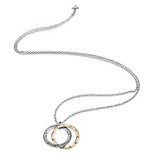 Guess Rhodium & Yellow Gold Plated E Motions Circle Necklace - Product number 6220568