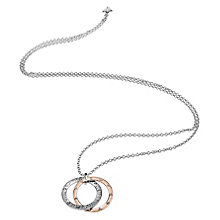 "Guess Rhodium & Rose Gold-Plated 31"" Big Circles Pendant - Product number 6220584"