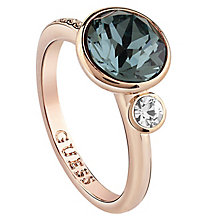 Guess Rose Gold-Plated Swarvoski Crystal Coloured Ring - Product number 6220657