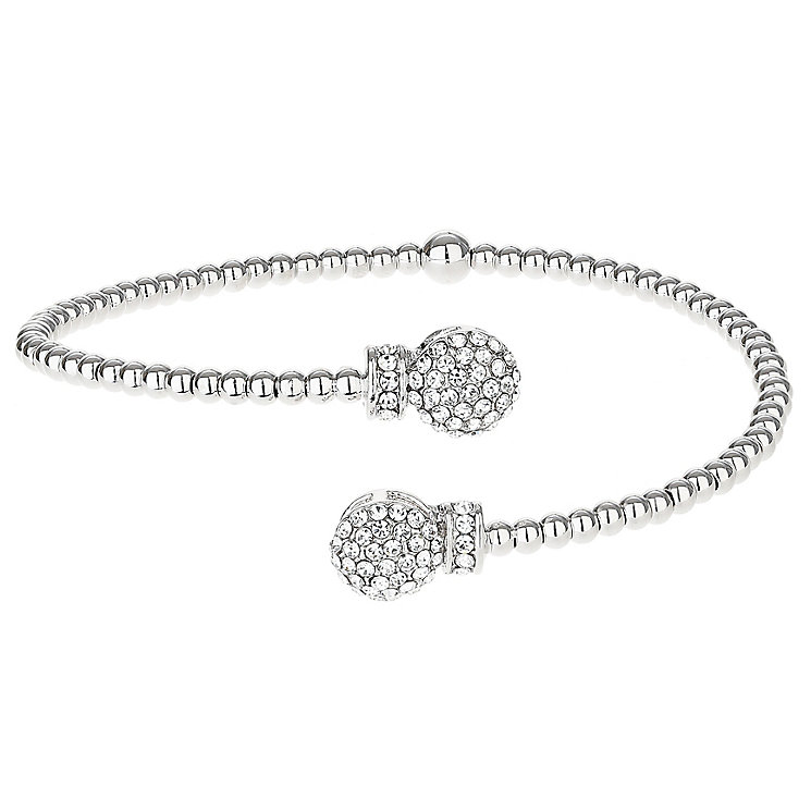 Mikey Silver Tone Crystal Ball Flex Bangle - Product number 6221092