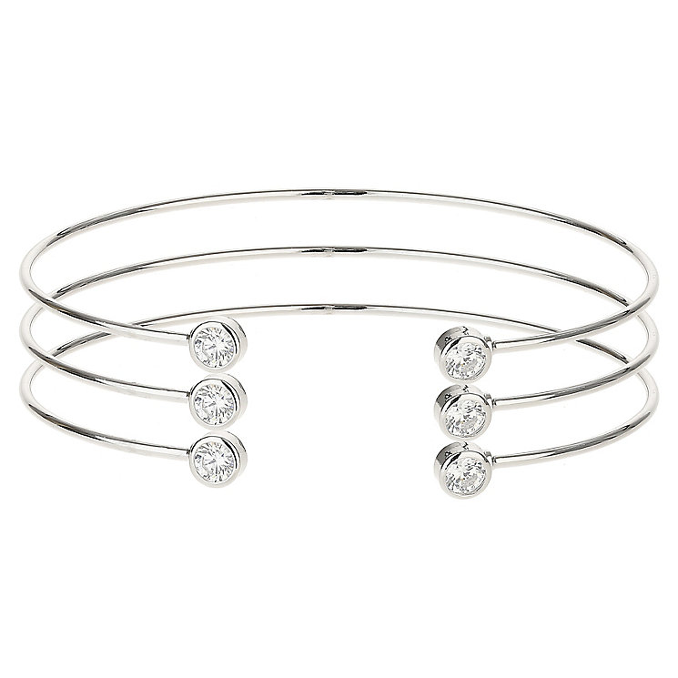 Mikey Silver Tone 3 Stackable Bangles Set - Product number 6221114