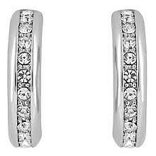 Buckley Shoreditch Rhodium & Cubic Zirconia Hoop Earrings - Product number 6221165