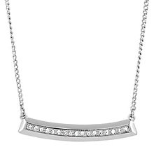 Buckley Shoreditch Rhodium & Cubic Zirconia Necklace - Product number 6221173