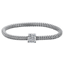 Buckley Silver Tone & Cubic Zirconia Mesh Bracelet - Product number 6221211