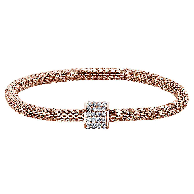 Buckley Rose Gold Tone & Cubic Zirconia Mesh Bracelet - Product number 6221238