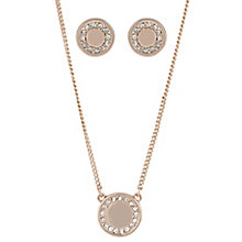 Buckley Shoreditch Rose Gold Round Earring & Pendant Set - Product number 6221246