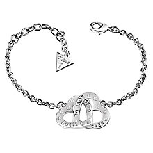 Guess Rhodium Plated Open Heart Bracelet - Product number 6221270