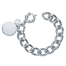 Tommy Hilfiger Stainless Steel Medallion Chain Link Bracelet - Product number 6222773