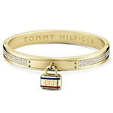 Tommy Hilfiger Gold Plated Pave Bangle & Lock - Product number 6222897
