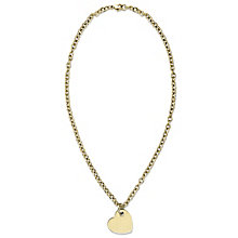 Tommy Hilfiger Gold Plated Off Centre Heart Necklace - Product number 6222994