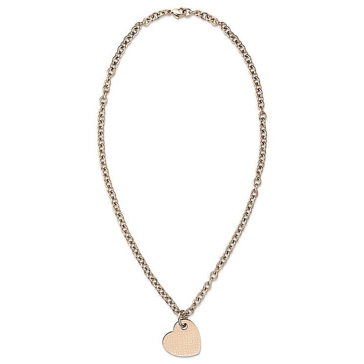 H Samuel Rose Gold Heart Necklace