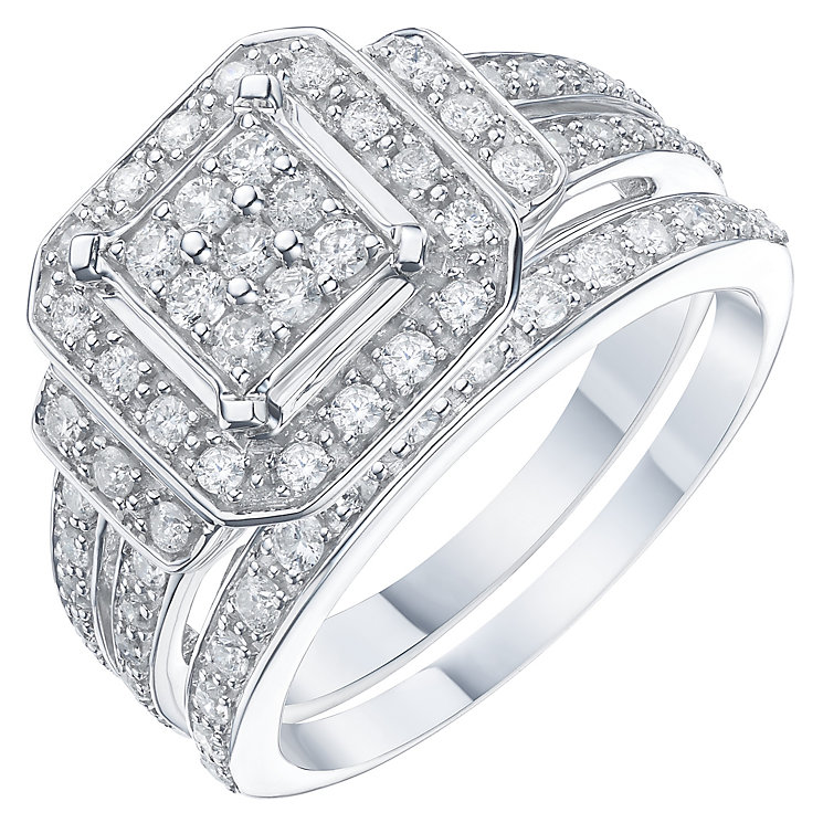 Perfect Fit 9ct White Gold 2/3 Carat Diamond Bridal Ring Set - Product number 6224083