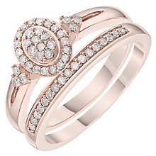 Perfect Fit 9ct Rose Gold 0.20ct Bridal Set - Product number 6224393