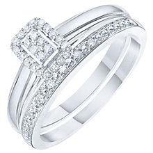 Perfect Fit 9ct White Gold 0.12ct Bridal Set - Product number 6224660