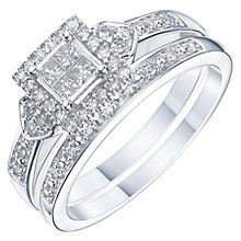 Perfect Fit 18ct White Gold 1/3 Carat Diamond Bridal Set - Product number 6227430
