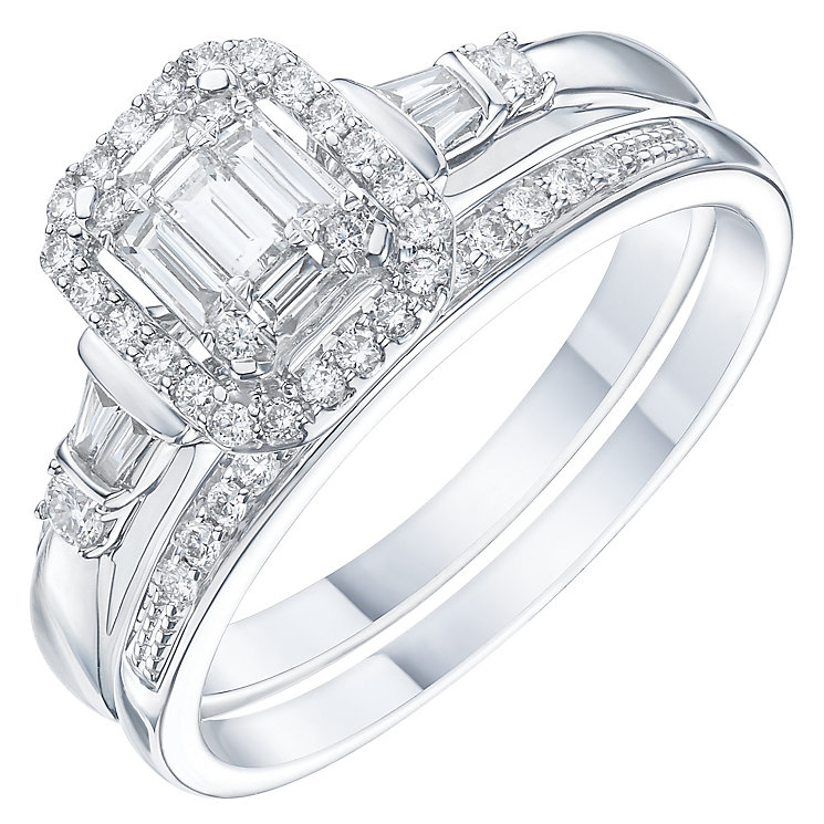 Perfect Fit 18ct White Gold 2/5 Carat Diamond Bridal Set - Product number 6227988