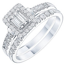 Perfect Fit Platinum 1/2 Carat Baguette Diamond Bridal Set - Product number 6228240