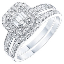 Perfect Fit 9ct White Gold 2/3 Carat Diamond Bridal Ring Set - Product number 6228933