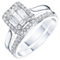 Perfect Fit 9ct White Gold 1/2 Carat Diamond Bridal Ring Set - Product number 6229085