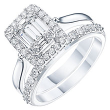 Perfect Fit 9ct White Gold 3/4 Carat Diamond Bridal Ring Set - Product number 6229212