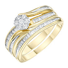 18ct Yellow Gold 2/5 Carat Diamond Perfect Fit Bridal Set - Product number 6230199