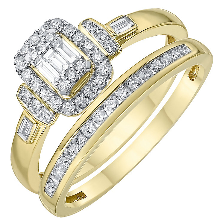 Perfect Fit 18ct Yellow Gold 1/3 Carat Diamond Bridal Set - Product number 6230466