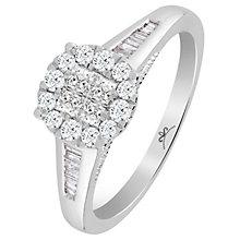 9ct White Gold 1/2 Carat Diamond Princessa Ring - Product number 6230644