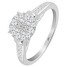 Princessa 9ct White Gold 1/2 Carat Diamond Ring - Product number 6230652