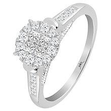 Princessa 9ct White Gold 1/2 Carat Diamond Ring - Product number 6230652