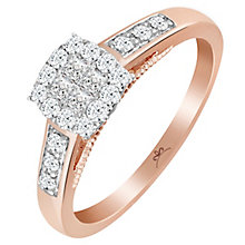 9ct Rose Gold 1/3 Carat Diamond Princessa Ring - Product number 6230679