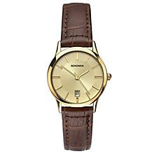 Sekonda Ladies' Brown Leather Strap Watch - Product number 6231020