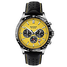 Sekonda Men's Chronograph Black Leather Strap Watch - Product number 6231268