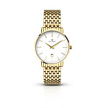 Accurist Men's Gold Plated Bracelet Watch - Product number 6231403